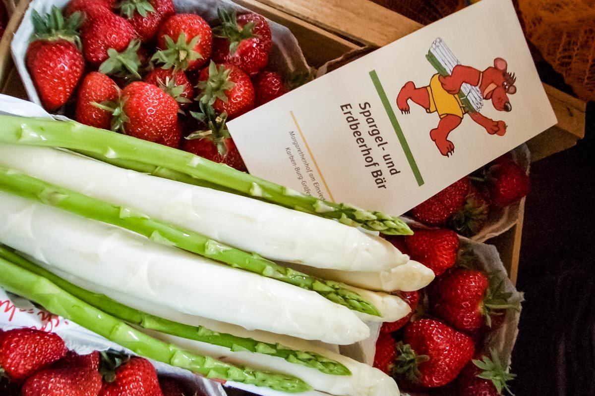 Spargel und Erdbeeren vom Margarethenhof Baer